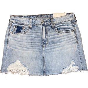 American Eagle Hi-Rise Festival Mini Jean Skirt 4